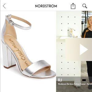COMFORTABLE silver heels!
